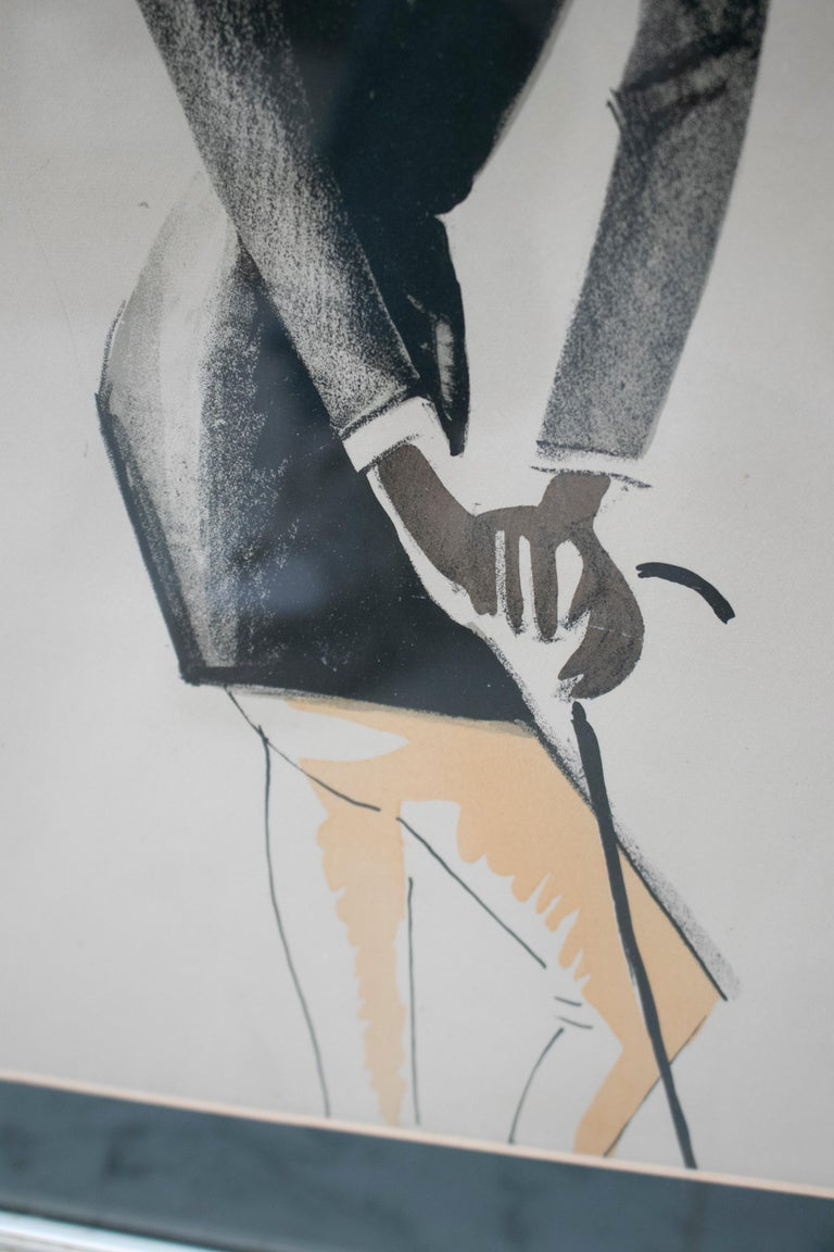 Black Man Pastel Painting Signed Paul Colin, 1925 In Good Condition For Sale In Malaga, ES