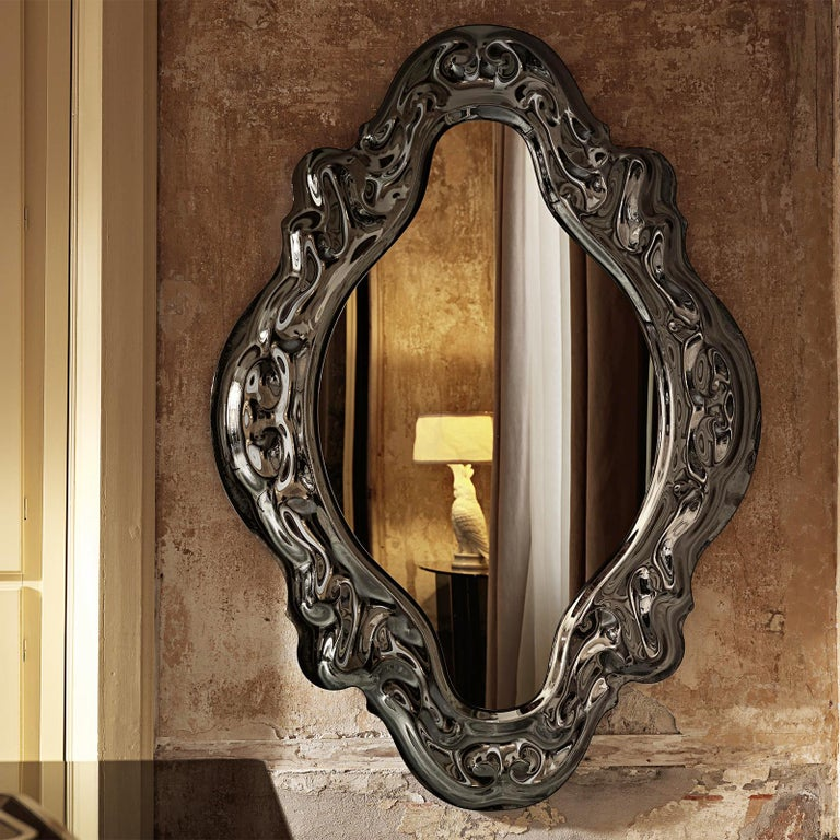 Black Manor Mirror In New Condition For Sale In Paris, FR