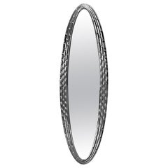 Black Manor Oval Mirror