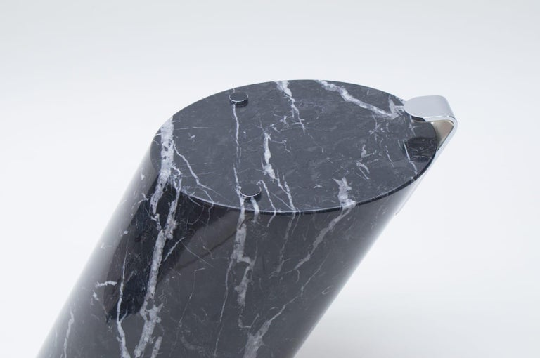 Black Marble and Glass Coffee Table Model K1000 by Team Form for Ronald Schmitt For Sale 4