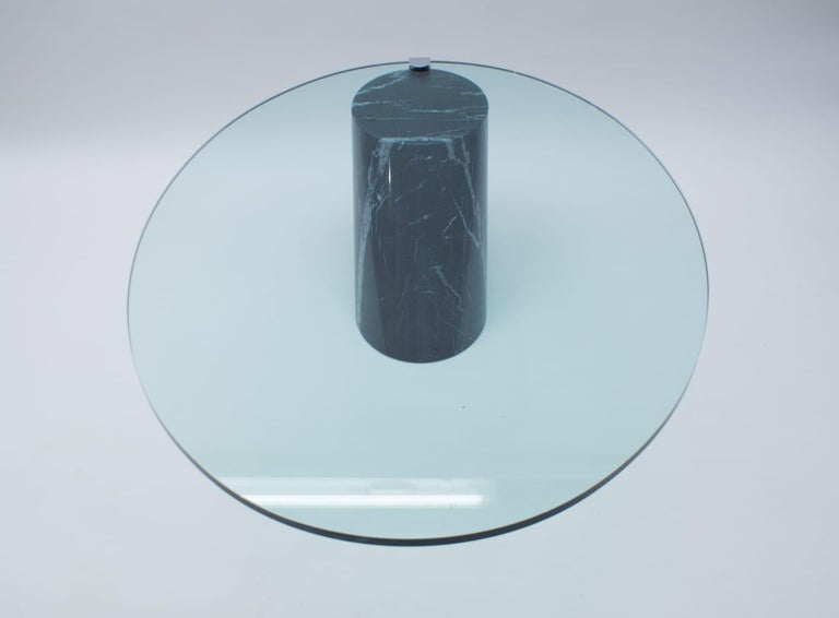 Black Marble and Glass Coffee Table Model K1000 by Team Form for Ronald Schmitt For Sale 8