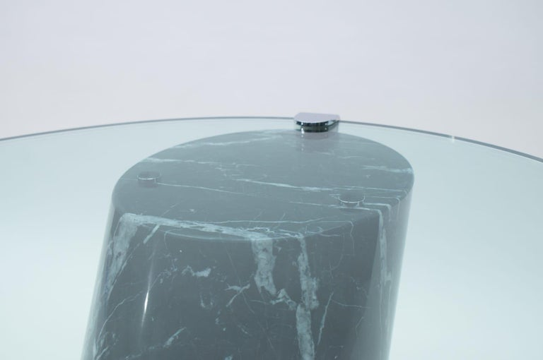 Black Marble and Glass Coffee Table Model K1000 by Team Form for Ronald Schmitt For Sale 9