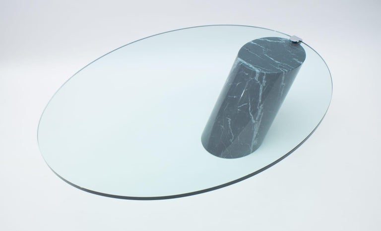Late 20th Century Black Marble and Glass Coffee Table Model K1000 by Team Form for Ronald Schmitt For Sale