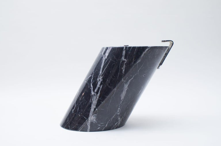 Black Marble and Glass Coffee Table Model K1000 by Team Form for Ronald Schmitt For Sale 2
