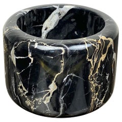 Black Marble Bowl by Tulli Zuccari, Italy, 1980s