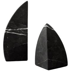 Black Marble Carved Bookend