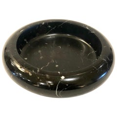 Black Marble Cendrier or Bowl Dish in the Style of Angelo Mangiarotti