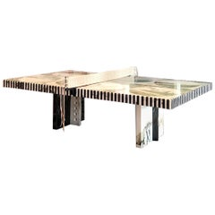 Black Marble Green Onyx Ping Pong Dining Table
