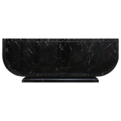 Black Marble lacquer Credenza by Maison Jansen