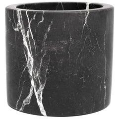 Black Marble Medium Cylinder