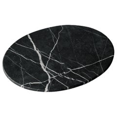 Black Marble Oval Board