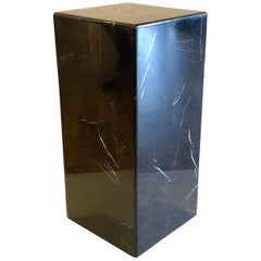 Black Marble Pedestal wit Rounded Corners in Black Marble