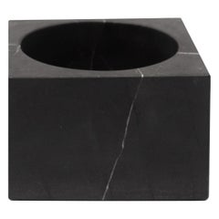 Black Marble Tall Cube