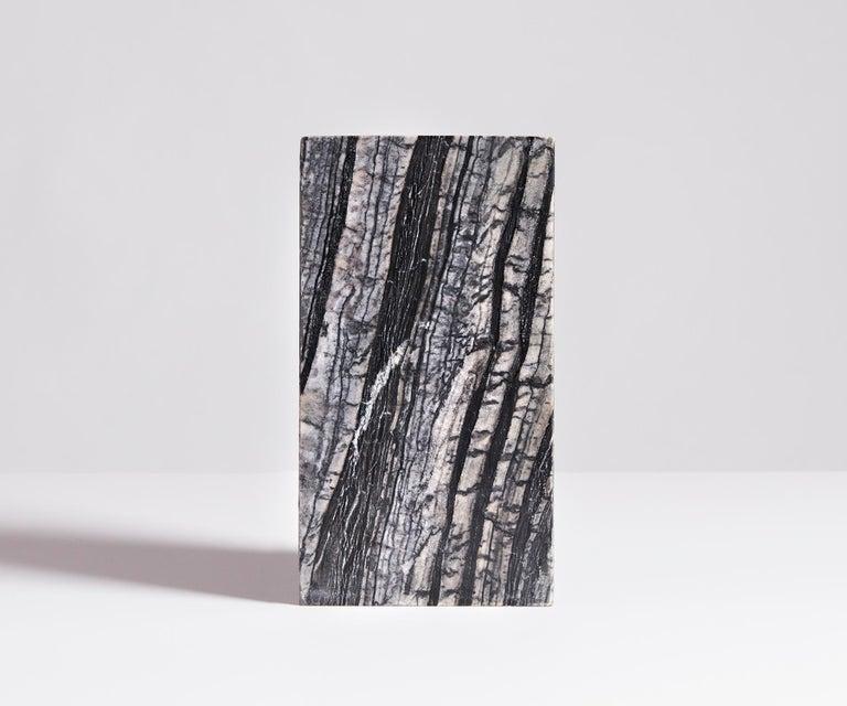 Modern Black Marble Triad Vase by Phillip Jividen For Sale