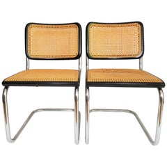 Black Marcel Breuer Thonet Cesca Chairs, 1960s