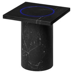 Black Marquina Marble Square Side Table by Studio Buzao