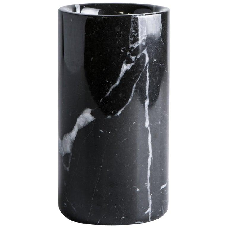 Black Marquina Marble Utensil Holder For Sale