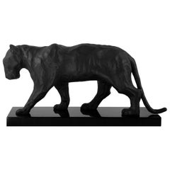 Black Matt Panther Sculpture