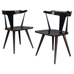 Black McCobb Planner Dining Armchairs Nº1530 Labels Original Finish Midcentury