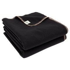 Black Merino Wool Throw 'The Portia' by JG Switzer