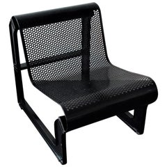 Black Metal 'Lagos' Chair by Nel Verschuuren for Artifort, The Netherlands, 1983