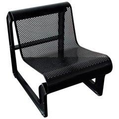 Black Metal 'Lagos' Chair by Nel Verschuuren for Artifort, The Netherlands, 1983