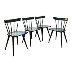 Black Mid-Century Modern Paul McCobb Windsor Dining Chairs Planner Winchendon