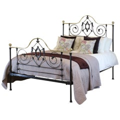 Black Mid Victorian Antique Bed MK210