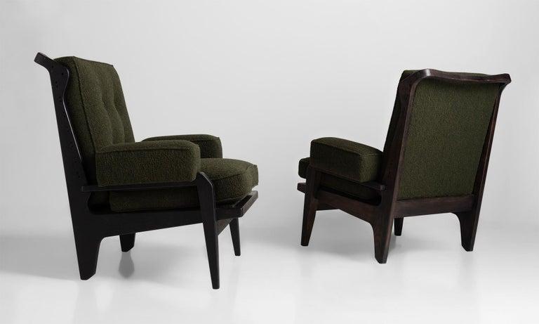 Mid-Century Modern Black Midcentury Armchairs For Sale
