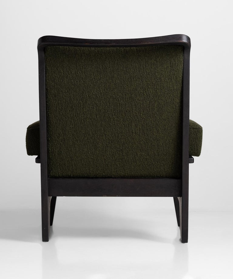 Black Midcentury Armchairs In Good Condition For Sale In Culver City, CA