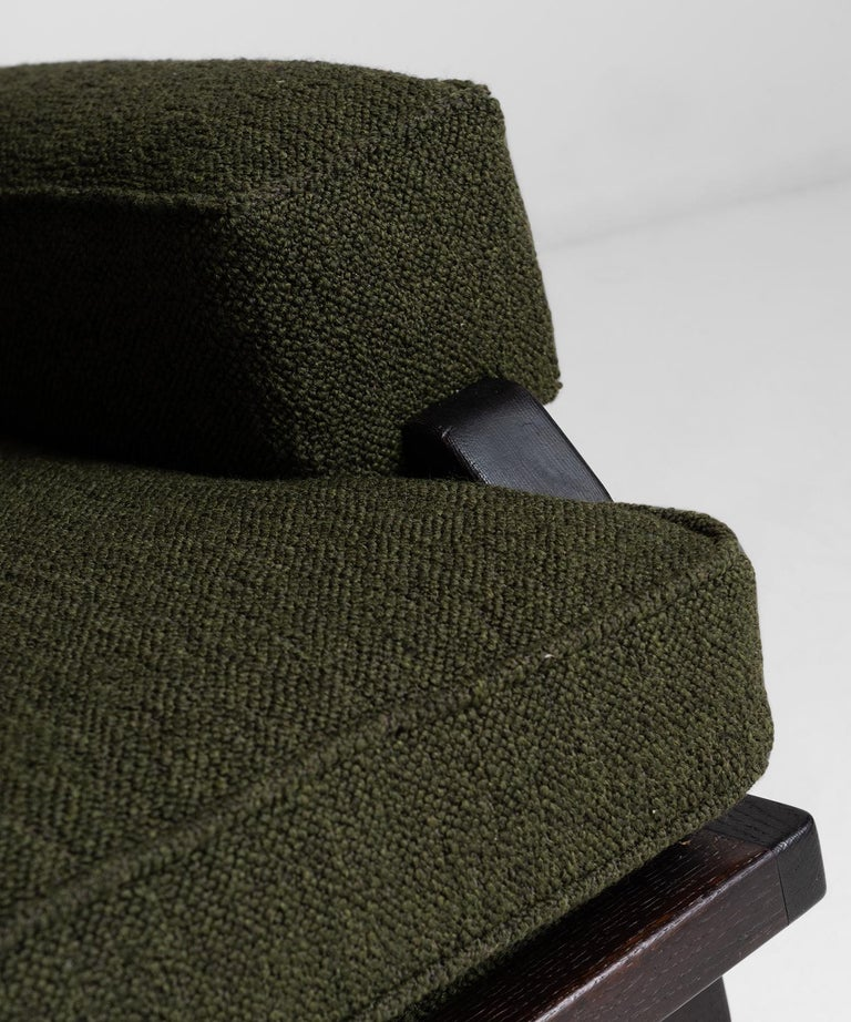 Upholstery Black Midcentury Armchairs For Sale