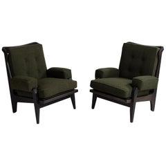 Black Midcentury Armchairs