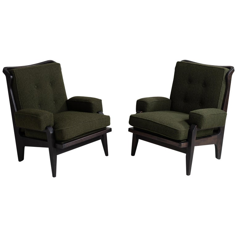 Black Midcentury Armchairs For Sale