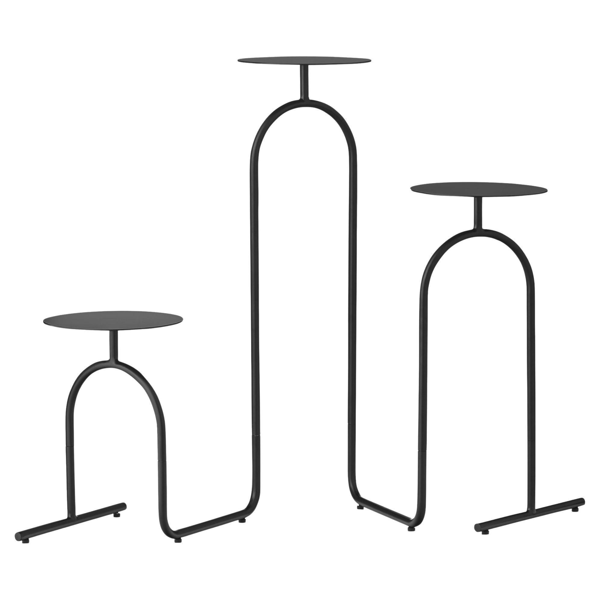 Black Minimalist Pedestal Table