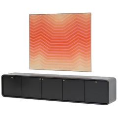 Black Minimalistic Space Age Sideboard by Declercq