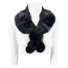 Black Mink Enlarged Fur Collar