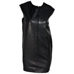 Black MM6 Maison Margiela Leather Shift Dress
