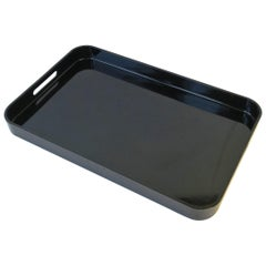 Black Modern Serving Tray