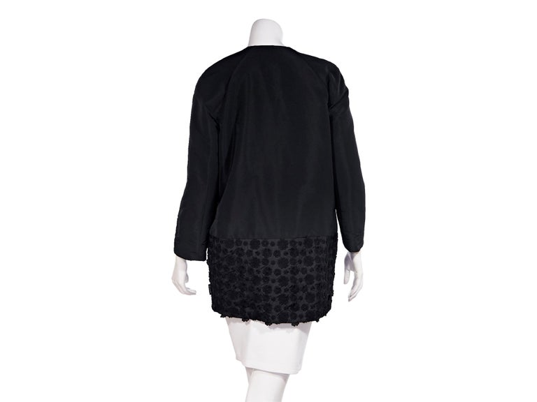 Moncler Black Cotton-Shell Embroidered Jacket In Good Condition For Sale In New York, NY