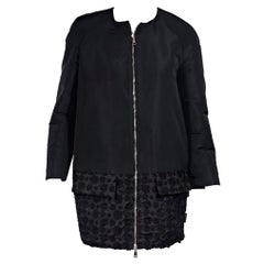 Moncler Black Cotton-Shell Embroidered Jacket