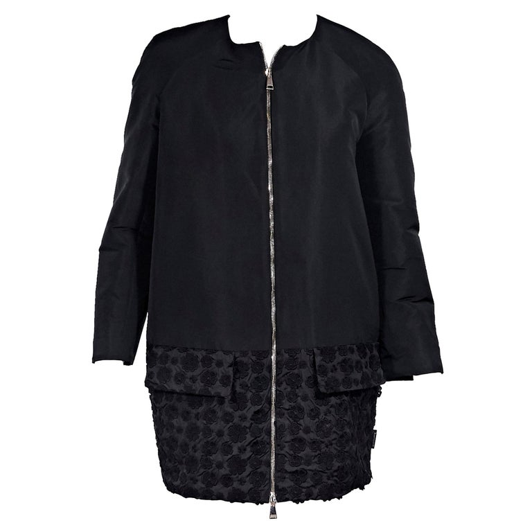 Moncler Black Cotton-Shell Embroidered Jacket For Sale