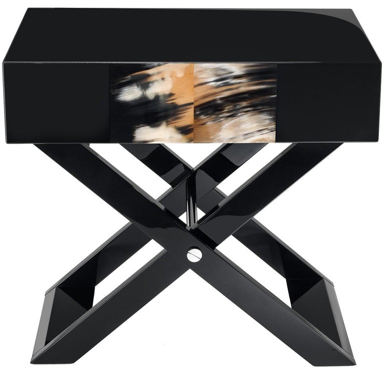 Black Nightstand In New Condition For Sale In Milan, IT