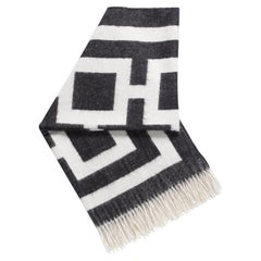 Black Nixon Baby Alpaca Throw Blanket