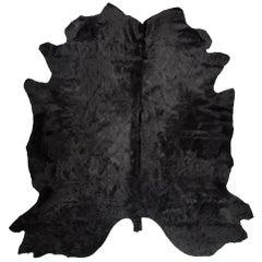 Black Noir Genuine European Large Cowhide Rug