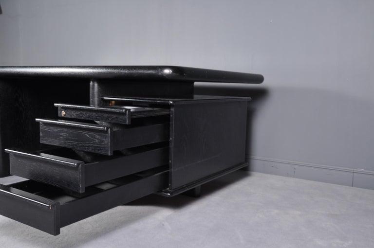Black Oak Floating-Top Executive Desk For Sale 3