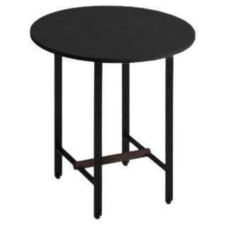 Black Oak Round Sisters Side Table by Patricia Urquiola