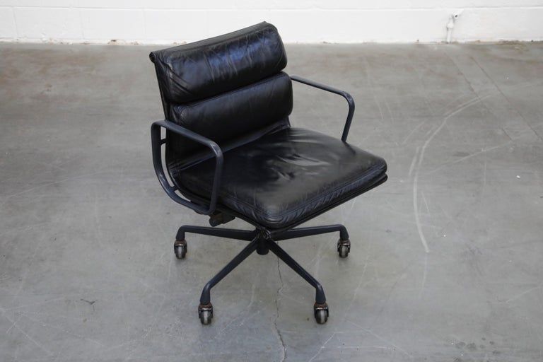 Late 20th Century Black on Black Eames Soft Pad Management Chair by Eames for Herman Miller, 1992