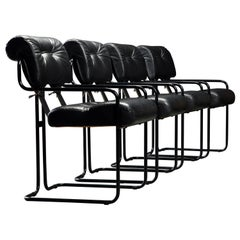 Black on Black Tucroma Chairs by Guido Faleschini for i4 Mariani, 1980s, Signed