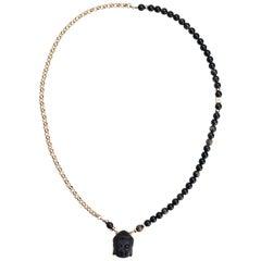 Black Onyx Buddha Change Necklace
