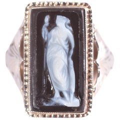 Black Onyx Cameo Ring